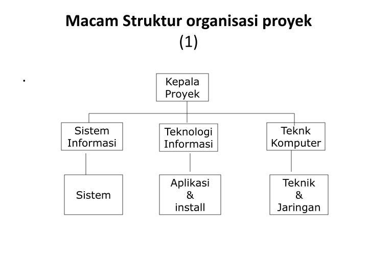 Macam Struktur organisasi proyek