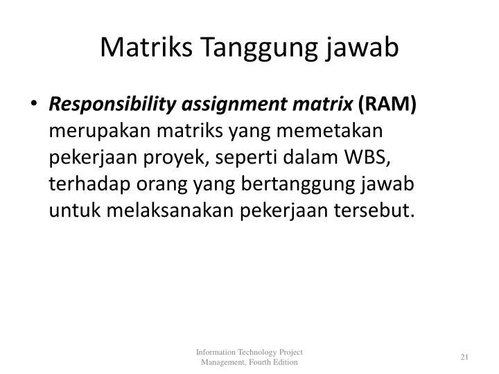 Matriks Tanggung jawab