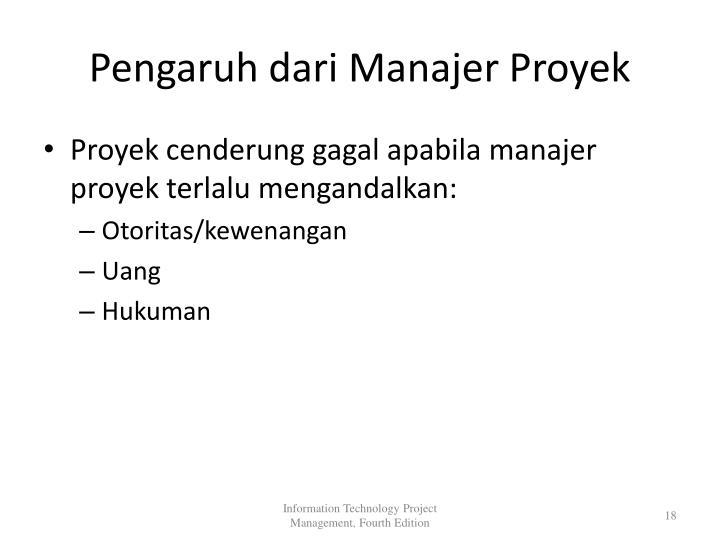 Pengaruh dari Manajer Proyek