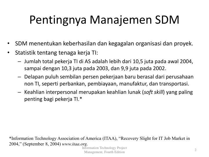 Pentingnya Manajemen SDM