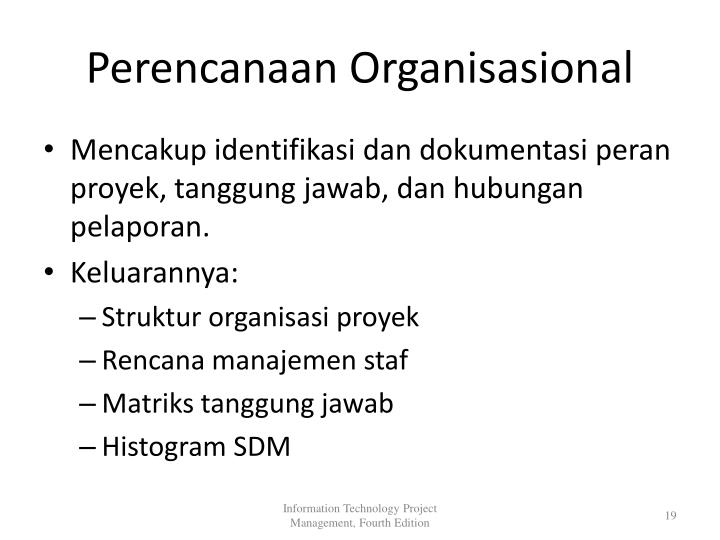 Perencanaan Organisasional