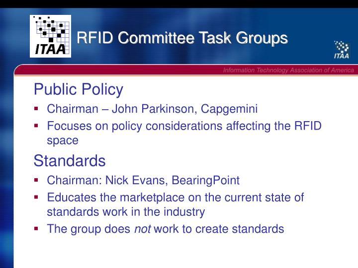 RFID Committee Task Groups