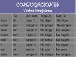 conjugaciones verbos irregulares