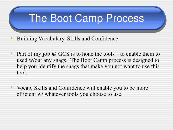 The Boot Camp Process