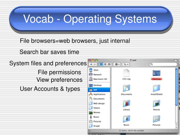 Vocab - Operating Systems