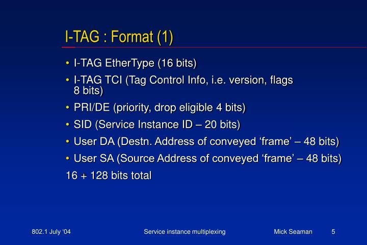 I-TAG : Format (1)