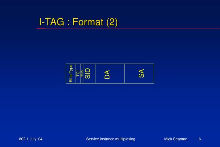 I-TAG : Format (2)