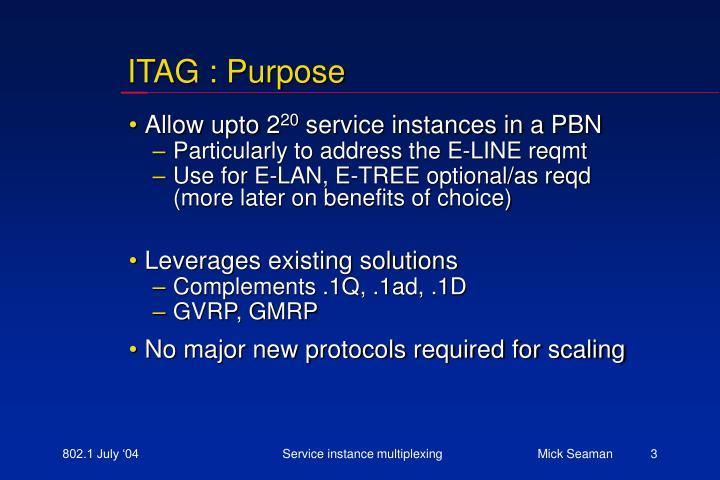 ITAG : Purpose