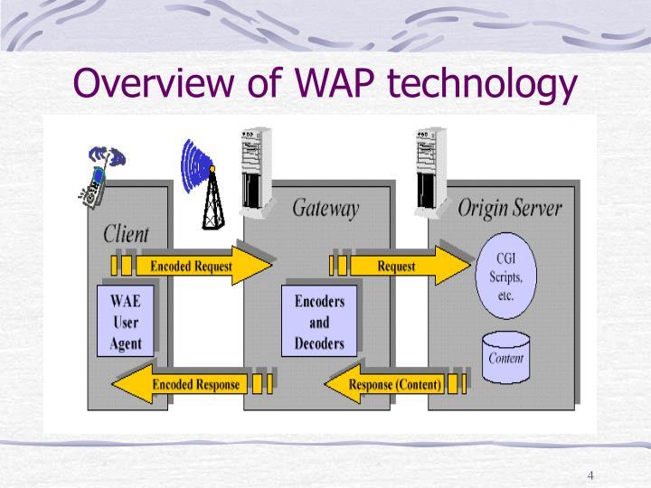 Overview of WAP technology