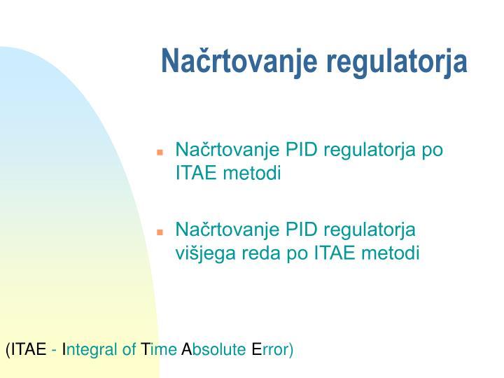 Načrtovanje regulatorja