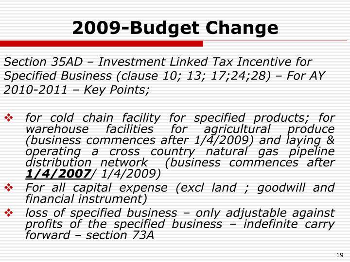 2009-Budget Change