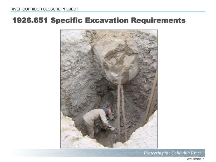 1926.651 Specific Excavation Requirements