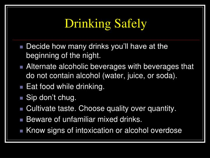 Drinking Safely