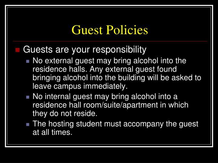 Guest Policies