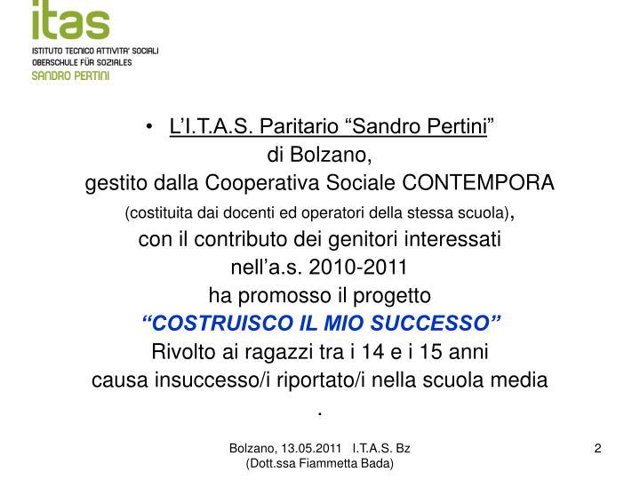 """L'I.T.A.S. Paritario """"Sandro Pertini"""