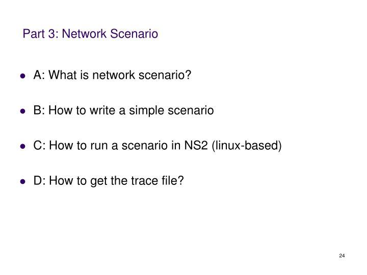 Part 3: Network Scenario
