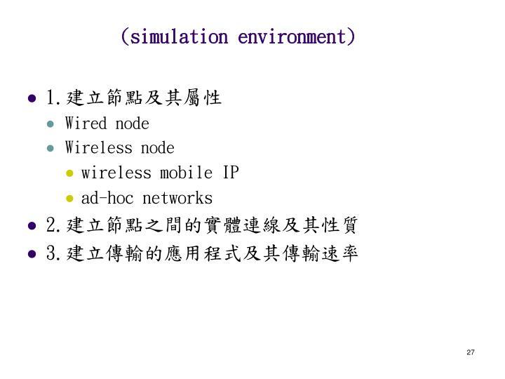 (simulation environment)