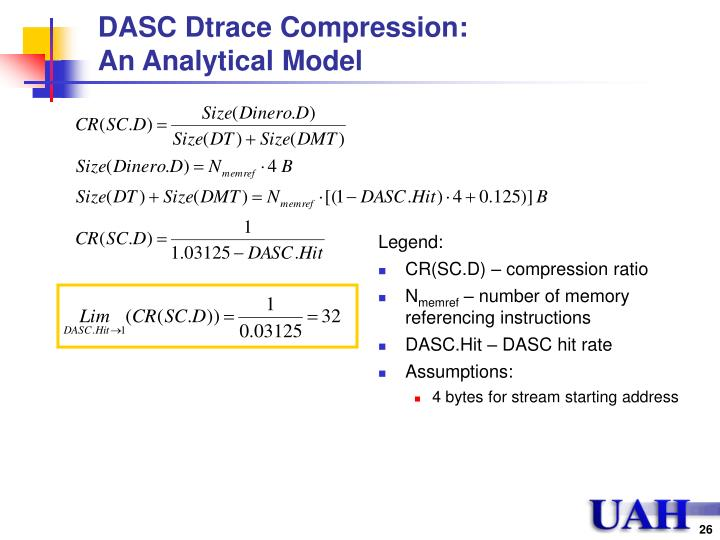 DASC Dtrace Compression: