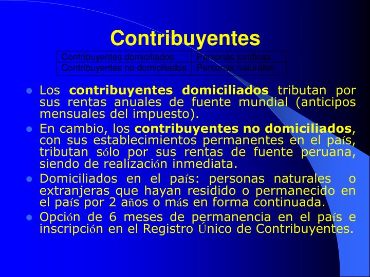 Contribuyentes