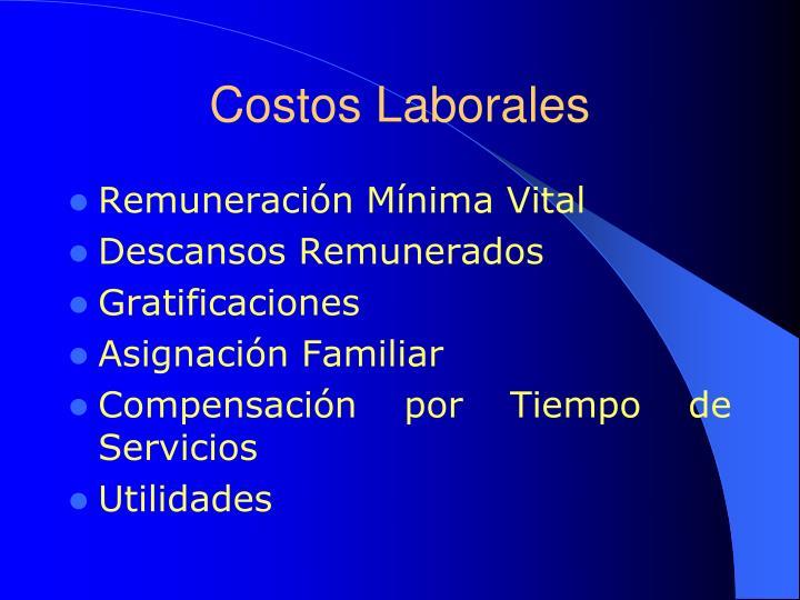 Costos Laborales