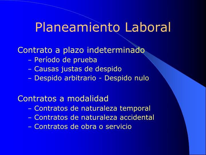 Planeamiento Laboral