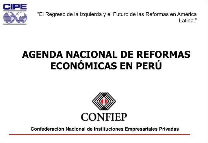 """""""El Regreso de la Izquierda y el Futuro de las Reformas en América Latina."""""""