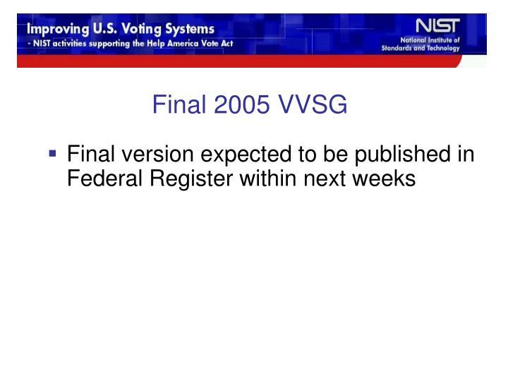 Final 2005 VVSG