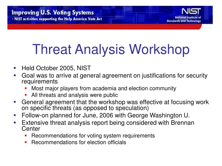 Threat Analysis Workshop