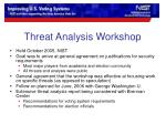 threat analysis workshop