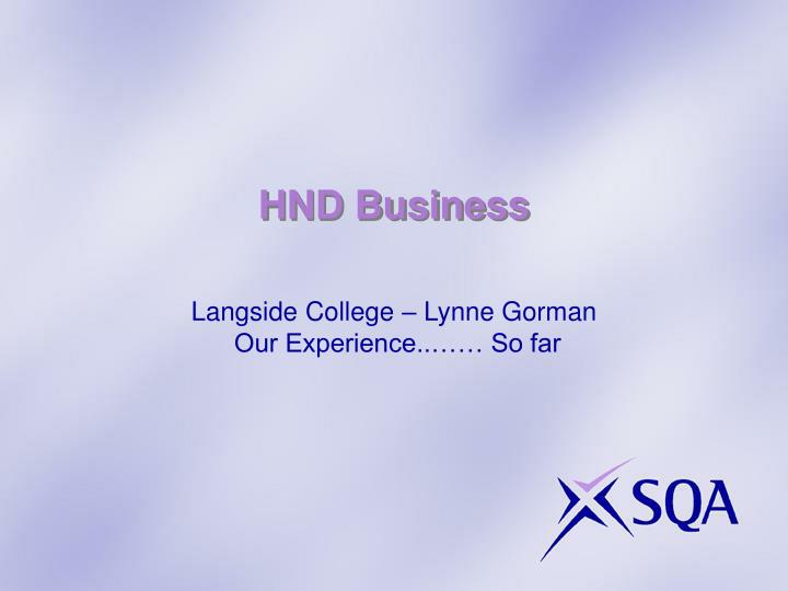 HND Business
