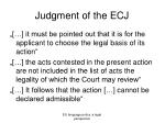 judgment of the ecj