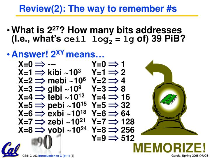 Review 2 the way to remember s