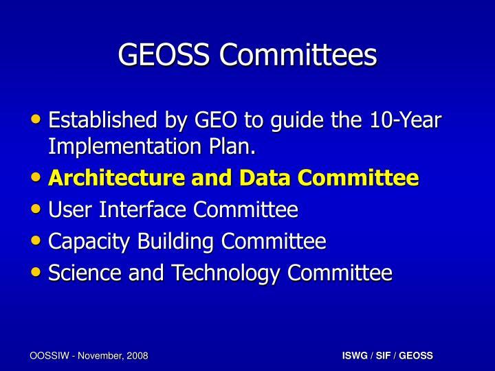 GEOSS Committees