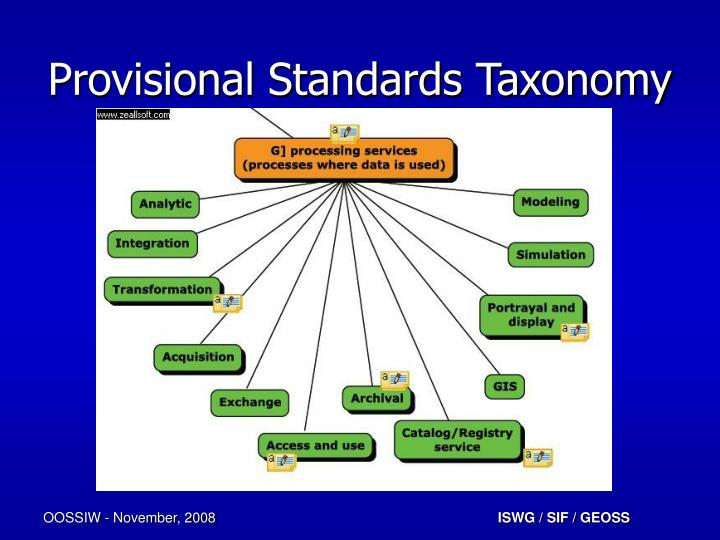 Provisional Standards Taxonomy