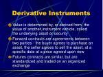 derivative instruments