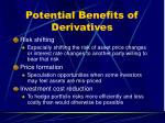 potential benefits of derivatives
