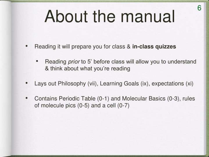 About the manual
