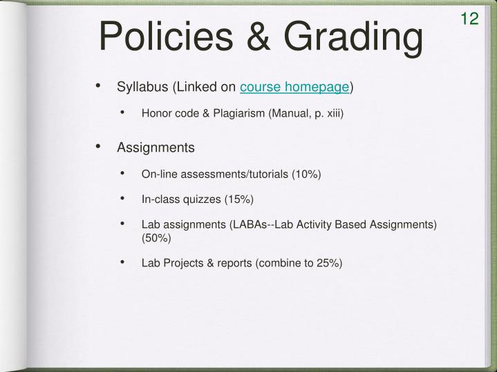 Policies & Grading