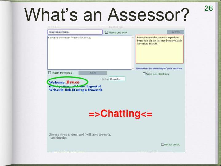 What's an Assessor?