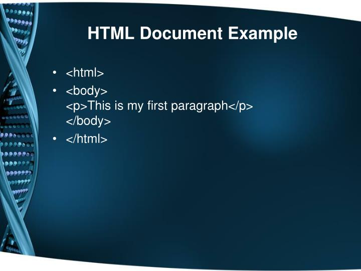 HTML Document Example