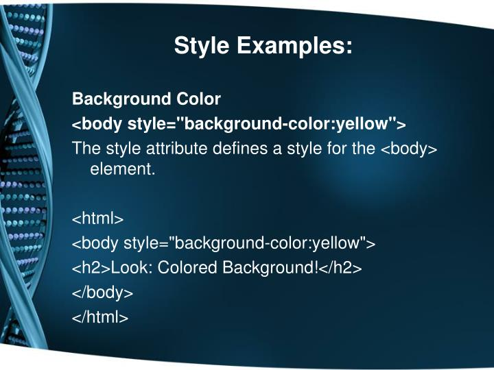 Style Examples: