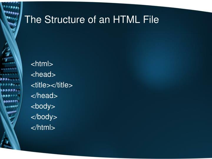 The Structure of an HTML File