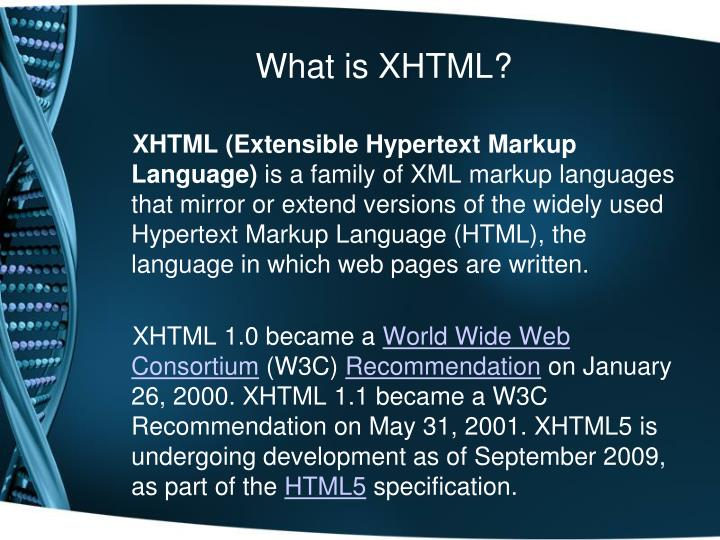 What is XHTML?