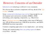 however concerns of an outsider