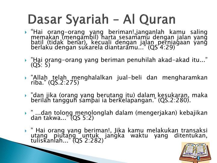 Dasar Syariah