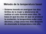 m todo de la temperatura basal