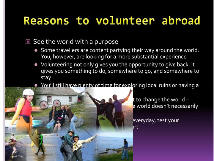 Reasons to volunteer abroad