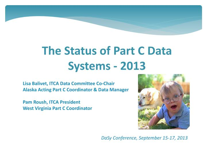 The status of part c data systems 2013