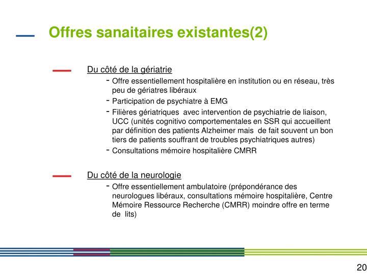 Offres sanaitaires existantes(2)