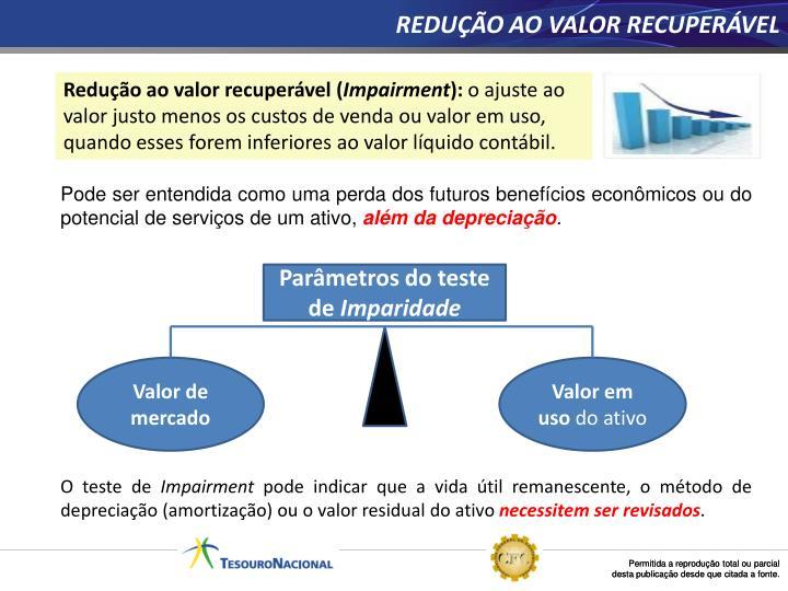 REDUÇÃO AO VALOR RECUPERÁVEL